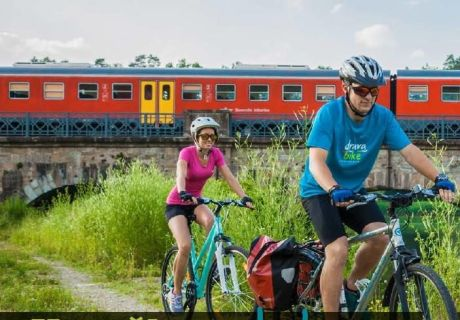 DRAU CYCLE PATH NEW TRAIN LINE NOW ALSO FOR THE WEEKEND